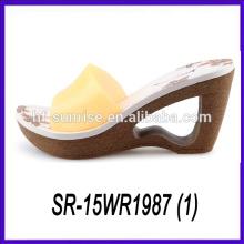 pvc upper slipper high heel slipper new woman slipper