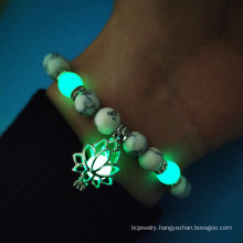 Shangjie OEM Halloween 2021 Turquoise Beads Energy Luminous Bracelet beads bracelet with charms trending bracelets