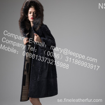 Mink Fur Flower Coat på vintern