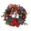 Праздника Украшения СИД пластмассы цветок Рождественский венок
