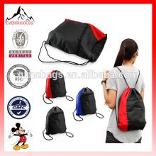 NOVA Colorblock Drawstring Mochila Cinch Sack Escola Tote Ginásio Bag Sport Pack (ES-H051)