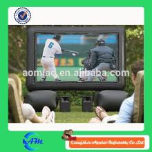 enjoying watching sport project movie screen