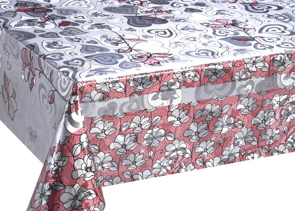 Double Face Silver Gold Printed Tablecloth