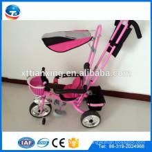 2015 Новый трехколесный велосипед детского дизайна хорошего качества с стальной рамой, воздушным колесом, солнцезащитными и ремнями безопасности
