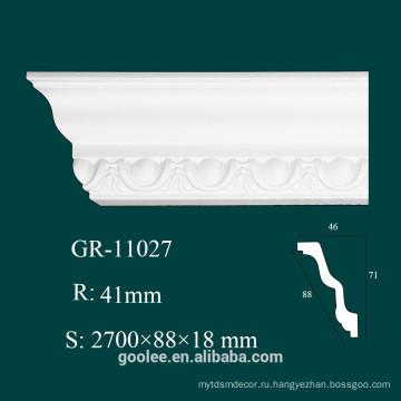 Высокопрочная белая полиуретановая корона для потолка