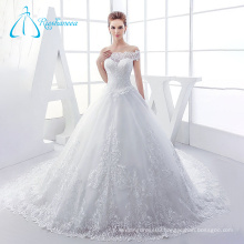 Tulle Satin Lace Ball Gown Traditional Wedding Dresses