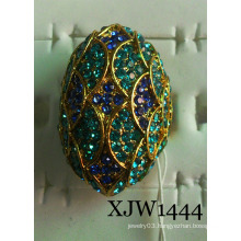 Alloy with Diamond Jewelry Ring (XJW1444)