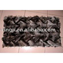 Vorderpfote-Pelzplatte des Silberfuchses