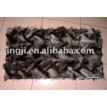Silver fox front paw fur plate