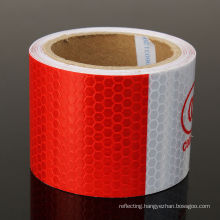 3m White/Red Reflective Safety Warning Conspicuity Tape in Adhesive