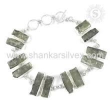 Pulsera de piedras preciosas Kyanite impresionante hecho a mano 925 joyas de plata esterlina India joyas en línea