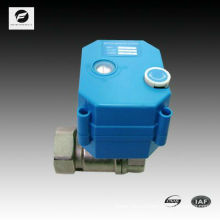 CWX -25S 2 way motorized ball vave with manual control 16bar NPT 1/4 3/8 1/2 3/4 size ss304 24v 110v 220v for water treatment