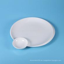 Keramik-Sushi-Platte, Servierteller mit Sauce Gericht
