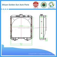 Radiateur de cuivre de Myanmar de la fabrication de Shiyan en Chine.