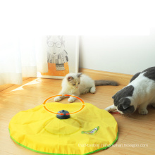 interactive puzzle game cat toy electric interactive cat teaser toy funny cat toy turntable