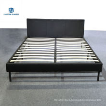 Double Size Simple Design Cheap PU/Fabric Bedroom Bed