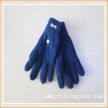 Malha de lã simples homens luvas de inverno elegante