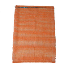 Top Drawstring Plastic Mesh Bag for Packaging Fruits and Vegetable and Oranges Seafood Firewood eco mesh drawstring bag