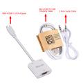 HDMI para VGA com adaptador de áudio de alimentação