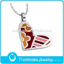 Colgante del acero inoxidable de la joyería de las mujeres en forma de corazón del esmalte TKB-JP0167 2015