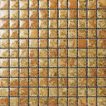 Yellow carreaux transformatrice de mosaïque en céramique