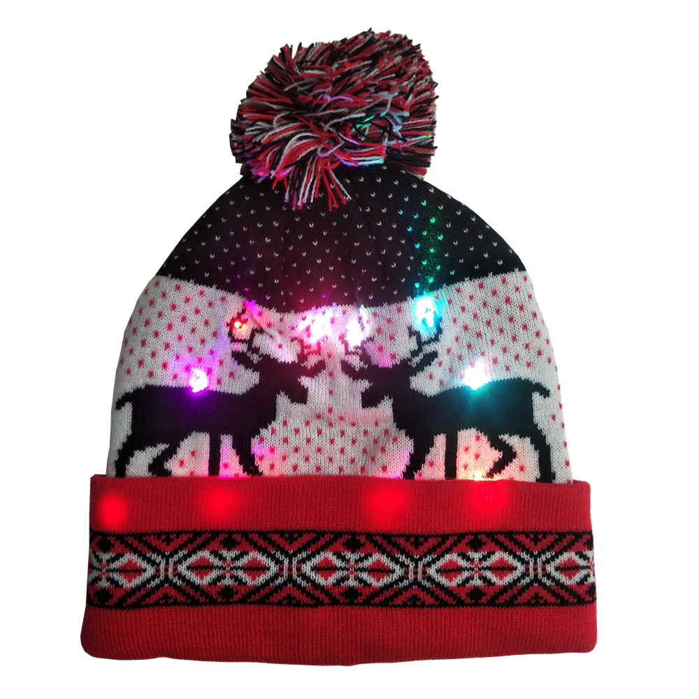 Christmas hat with LED light 1