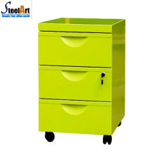 Top quality office furniture moveable 3 drawer storage file cabinet