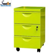 Armário de arquivo móvel do armazenamento da gaveta de 3 móveis da mobília da qualidade superior
