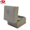 custom crystal grey engagement mini ring box