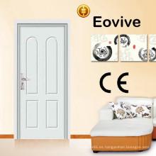 material de pvc de la puerta de dormitorio mdf interior