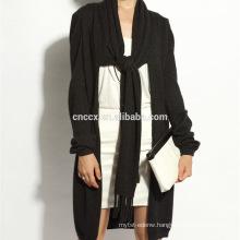 16STC8079 wool cashmere knit long open cardigan