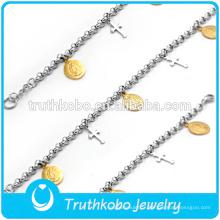 bracelet d'ancrage bracelet en silicone personnalisé pas cher avec différents types de pendentifs suspendus