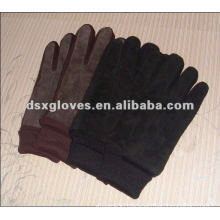 Suede pigskin garment leather winter gloves for men