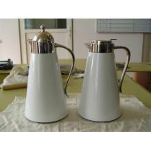 Revêtement de verre peint en acier inoxydable Shell Coffee Pot