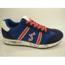 Zapatos de deporte casual azul retro de los hombres calzado