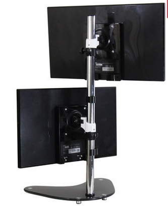 TV11 dual monitor desktop arm stand back
