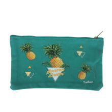 Wholesale durable small  canvas fabric  pencil  bag with zipper for children