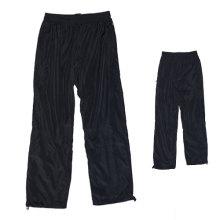 Yj-3005 Lined Mens Black Microfiber Sports Pants Sweatpants