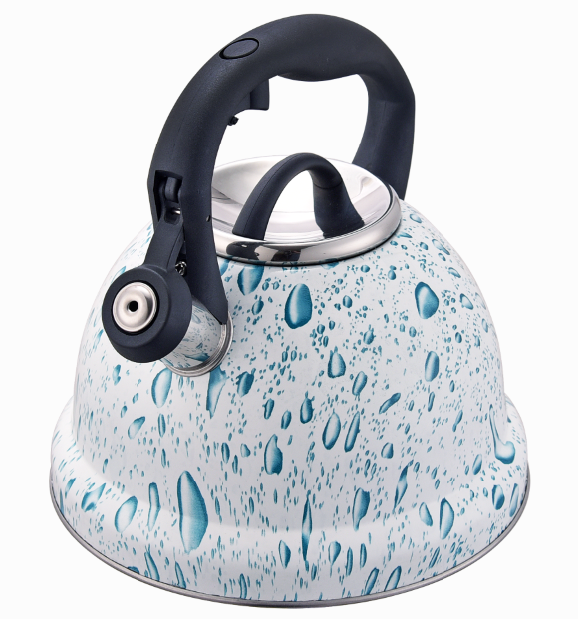 Fh 554 White Blue Water Kettle With Cover