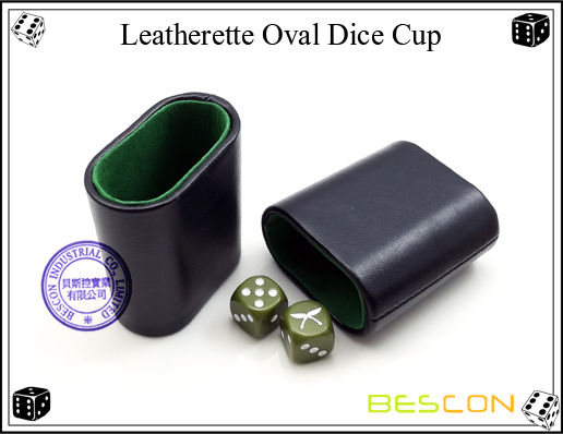 Leatherette Oval Dice Cup2