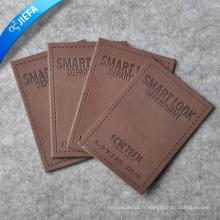 Patch en cuir de vêtement gaufré personnalisé