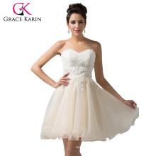 Grace Karin Fashion Girls Strapless Short Organza Cocktail Dress Sweetheart Neckline Cheap Cocktail Party Dresses CL6134