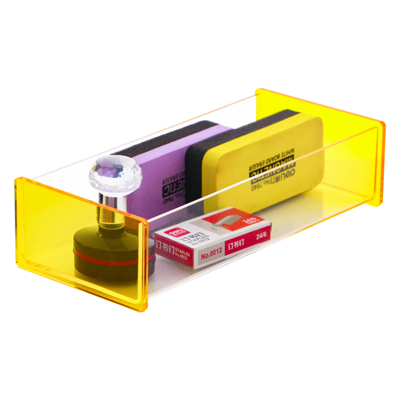 Acrylic Drawer Organizer Tray Yellow