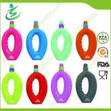 Bouteille d'eau de sport pliable gratuite de 500 ml avec étiquette privée