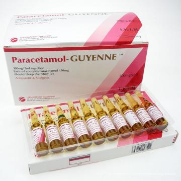 GMP Medicamentos aprobados por la FDA Paracetamol Lidocaína Inyección para reducir la fiebre y el dolor