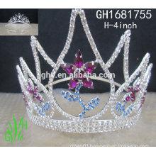 New designs rhinestone royal accessories rhinestone custom crystal pageant crown