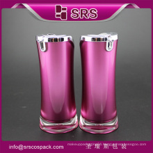 SRS acrylic purple color 15ml 30ml 50ml plastic luxury cosmetic face serum bottle