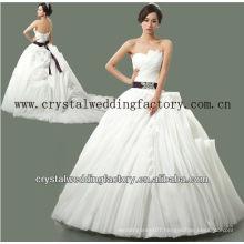 2014 luxurious strapless beaded custom-made real samples ruffled skirt ball gown wedding dresses CWFaw5578