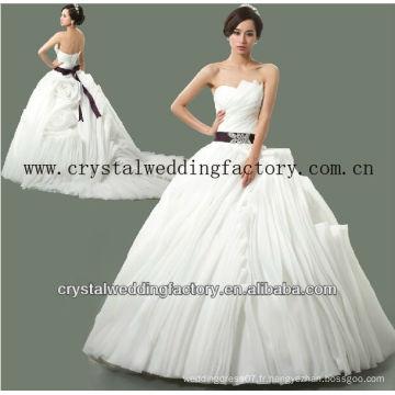 2014 luxueux sans bretelles en vrac sur mesure vrais échantillons juffé jupe robe de bal robes de mariée CWFaw5578
