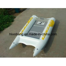 Inflatable Boat with High Speed Firberglass Front Cone